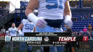 NCAAF 2019-2020, Military Bowl, North Carolina Tar Heels - Temple Owls, 27.12.2019