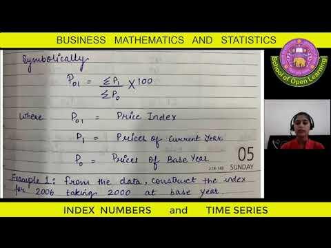 BUSINESS MATHEMATICS AND STATISTICS - BILINGUAL - TIME SERIES, INDEX NUMBER By - GUNEET KAUR