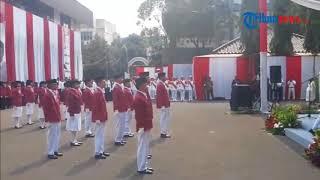 Semangat Prabowo Subianto Nyanyi Lagu Nasional saat Upacara