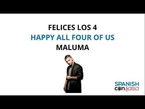 Download Maluma Felices Los 4 Lyrics English And Spanish English