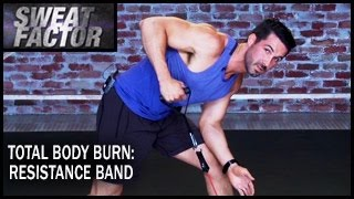 Total Body Burn Resistance Band Training with Drake: Circuit 1- Sweat Factor by BeFiT