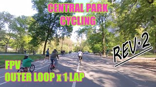Cycling CENTRAL PARK NYC REV.2 (New York City Biking) FPV FRONT