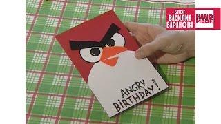 Открытка Злая птичка. Angry Birds