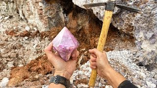 Found Super Rare Amethyst Crystal While Digging at a Private Mine! (Unbelievable Find)