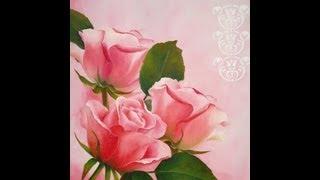 Como pintar ao óleo – Rosas