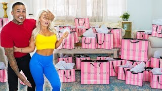 SURPRISING my GIRLFRIEND with $10,000 in VICTORIA'S SECRET (emotional)