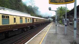 preview picture of video '(HD) 34067 'Tangmere' passes Knockholt with The Golden Arrow Statesman, 18th May 2013'