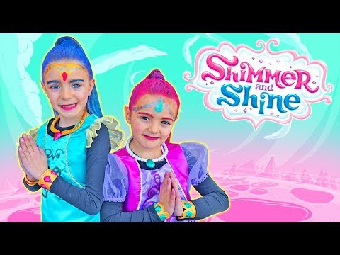 Nos disfrazamos de SHIMMER SHINE en CARNAVAL!! -tutorial- SaneuB