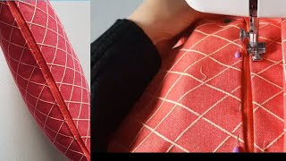 # Super Easiest  Way To Attach Perfect Zipper  To Cushion/pillow Cover tutorial/home Decor.