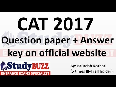 CAT question paper and answer key released!