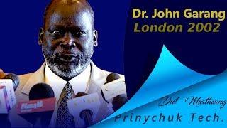 Dr. John Garang de Mabior visit to London in 2002.