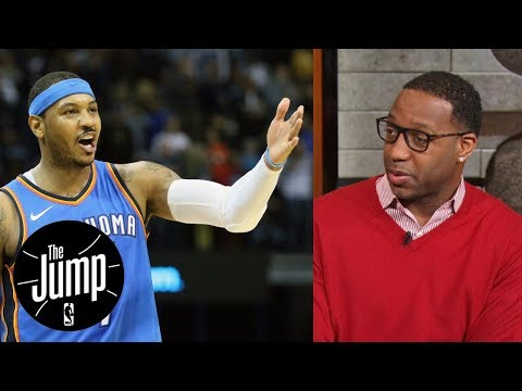 Tracy McGrady says Carmelo Anthony should come off Thunder's bench | The Jump | ESPN