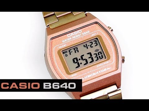 aa8953a552ac Reloj Casio Oro Rosado Mujer Rose Gold Retro B640 -   179.900 en Mercado  Libre