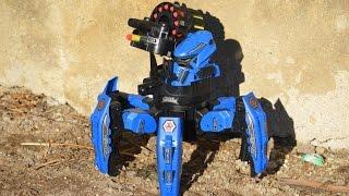 SPACE WARRIOR NERF - robot střílející soft náboje