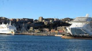 preview picture of video 'Port of Genoa, Genoa, Liguria, Italy, Europe'