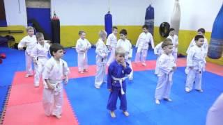 Киокушинкай карате  Клуб  КАСКАД  Детская тренировка маленькие каратисты