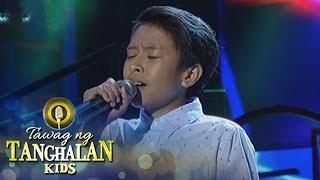 Tawag ng Tanghalan Kids: John Demonterverde | Wag Mo Akong Iwan Mag-isa