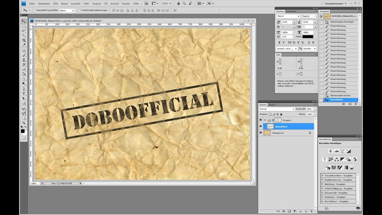 Grunge Stempel-Effekt – Photoshop-Tutorial