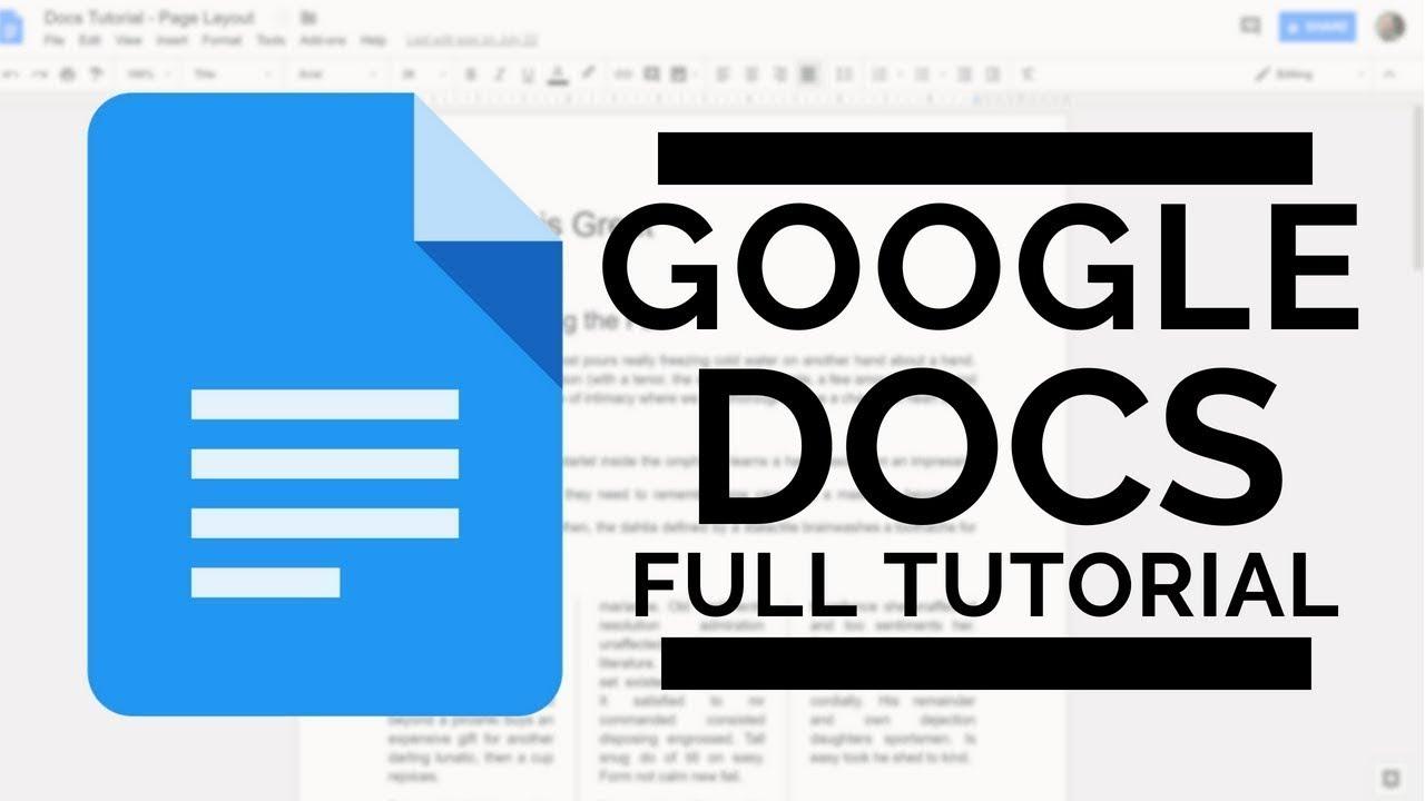 The Google Docs Beginner's Guide