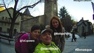 preview picture of video 'Paseando por Benasque con silla de ruedas'