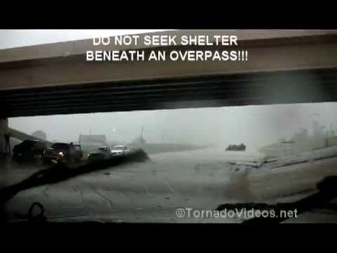 Newcastle, OK tornado: DO NOT SEEK SHELTER BENEATH AN OVERPASS!