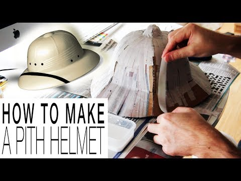 DIY - Pith Helmet / Sombrero de explorador o salacot (templates included/plantillas incluídas)