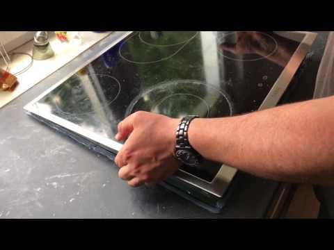 Ceranfeld mit Silikon abdichten Kochfeld in transparentes Silikon einlegen Küchenmontage Anleitung