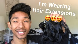 How To: Short Hair Clip In Extensions For Guys / Men