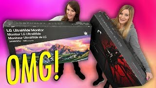Massive Monitor Unboxing! LG Curved Gaming and LG UltraWide!
