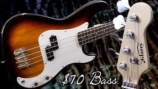 A $70 Budget Bass - Is It Worth Having Around? | Glarry GP Electric 4-String Bass Guitar Sunset