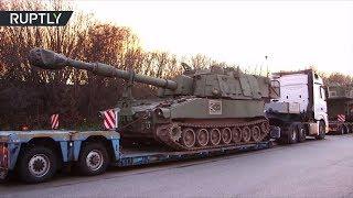 В Германии задержали конвой с американскими гаубицами