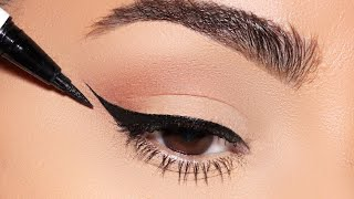 How To: PERFECT WINGED EYELINER Every Single Time!! (Simple Beginner Friendly Technique)
