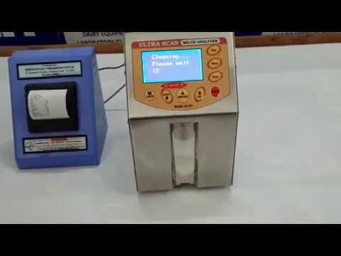 Milk analyzer ultra scan kurien