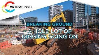 Breaking Ground: Void excavation at Anzac Station