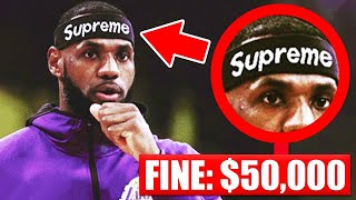 7 Accessories BANNED In The NBA This Season - LeBron James | Kyrie Irving | Kobe Bryant