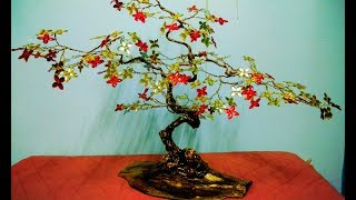 How to make tree with wire | tree sculpture | wire tree tutorial | beaded wire tree tutorial |