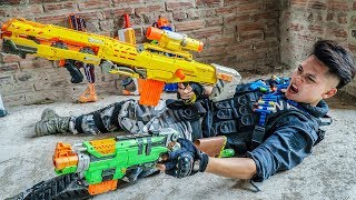 LTT Nerf War : Couple SEAL X Warriors Nerf Guns Fight Criminal Group Dr Lee The Unbeaten