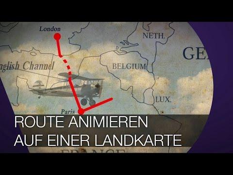 Route auf einer Karte animieren I After Effects TUTORIAL