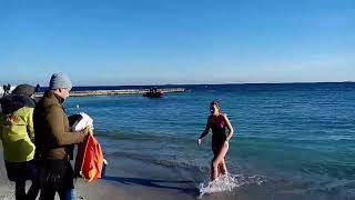 Купание в море на Крещение Господне! Bathing in the sea at the baptism of the Lord