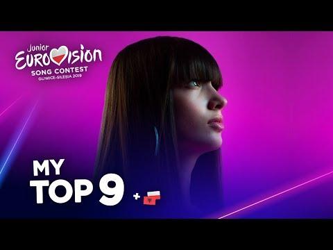Junior Eurovision 2019 - Top 9 (So far)