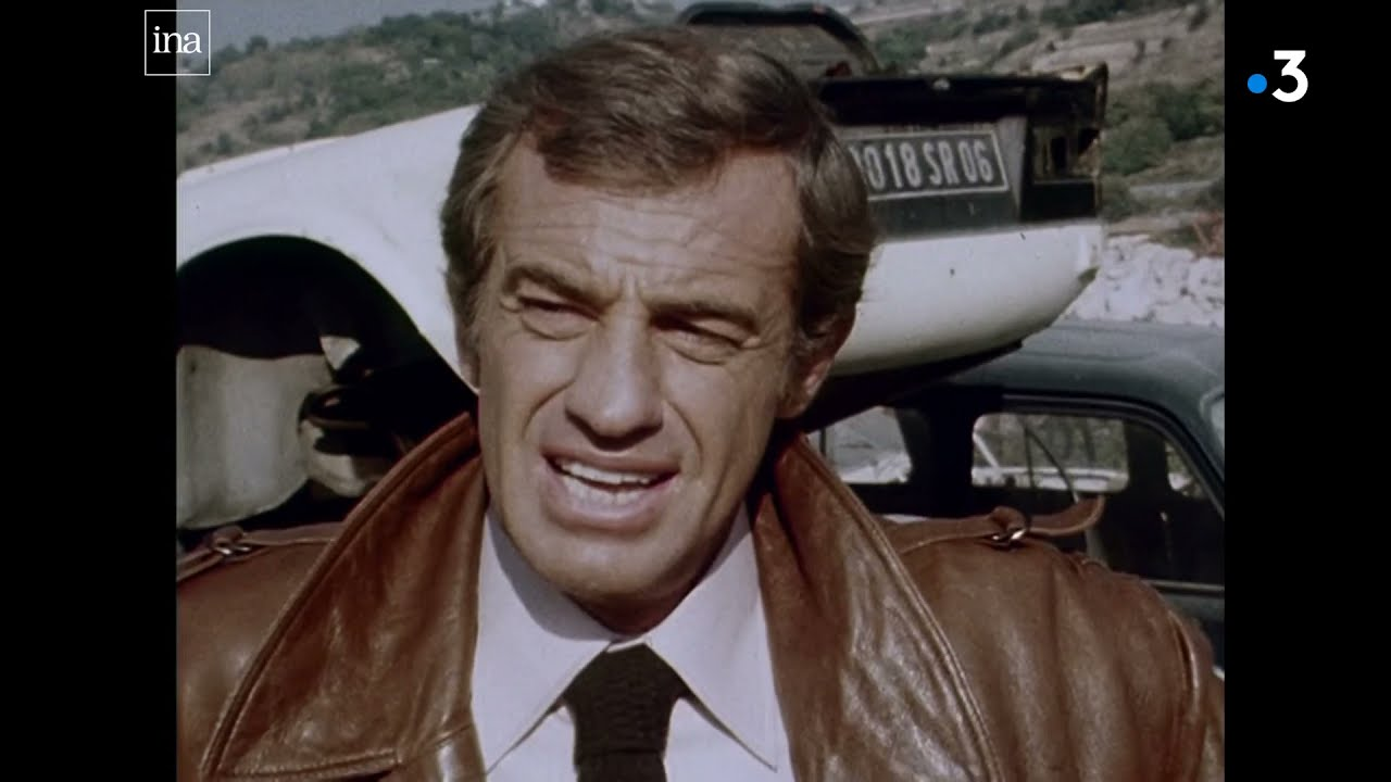 """Novembre 1978 : Belmondo sur le tournage de """"Flic ou Voyou"""" de Georges Lautner"""