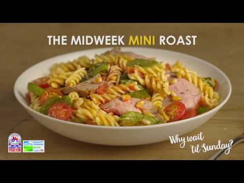 Mini Roast Lamb with pesto & pasta