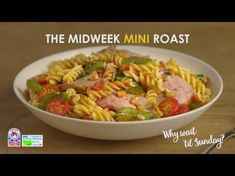 Mini Roast Lamb with pesto & pasta