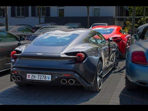 Cặp đôi hàng hiếm Vanquish Zagato nổi bật giữa dàn siêu xe Ý