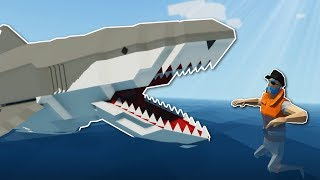 MEGALODON SHARK SURVIVAL! - Stormworks Multiplayer Gameplay