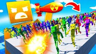 NUCLEAR RAGDOLL GOD vs INFINITE RAGDOLL ARMY (Fun With Ragdolls The Game Funny Gameplay)
