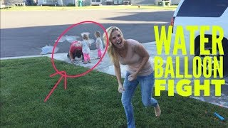WE ENCOUNTER A SNAKE AND HAVE THEIR FIRST WATER BALLOON FIGHT
