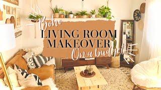 BOHO LIVINGROOM DIY EXTREME MAKEOVER