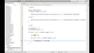 Mean Median Mode in Java