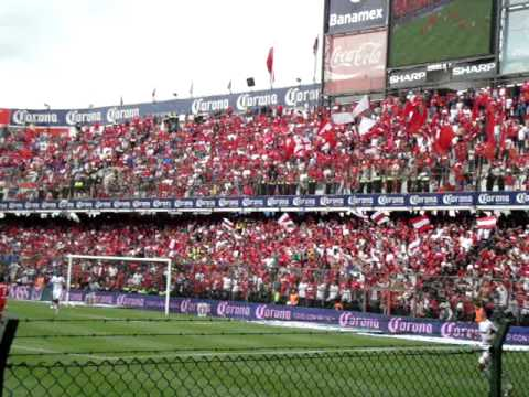 """""""La Banda del Rojo LBR Matador Toluca Vs Atlas J4 Apertura 2011"""" Barra: La Perra Brava • Club: Toluca"""